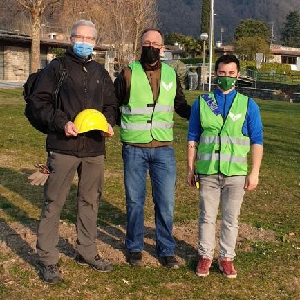Francesco Beretta Piccoli (DG), Elia Ponti (RC Mendrisiotto) e Manuele Giussani (Gruppo Verde Speranza)